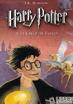 Libro de Harry Potter y el caliz de fuego